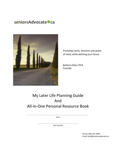 Later Life Planning Guide Front Cover